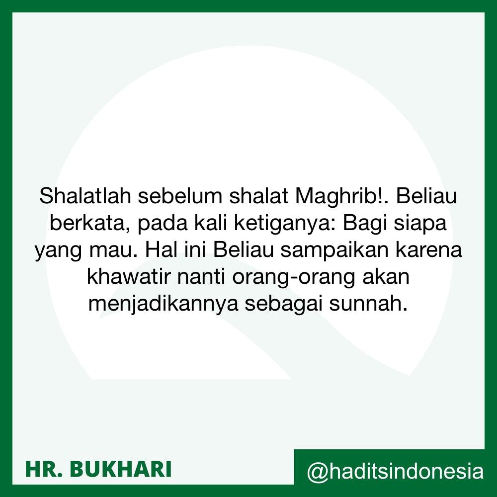Shalat Sunnah Dua Raka'at Sebelum Shalat Maghrib