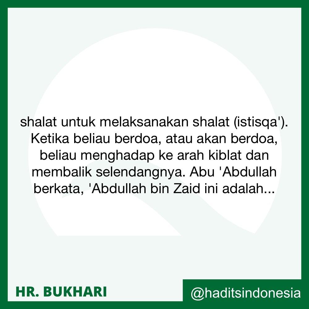 Menghadap Ke Arah Qiblat Ketika Berdo'a Istisqa'