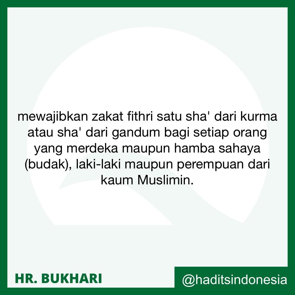 Zakat fitri bagi budak dan selainnya dari kaum muslimin