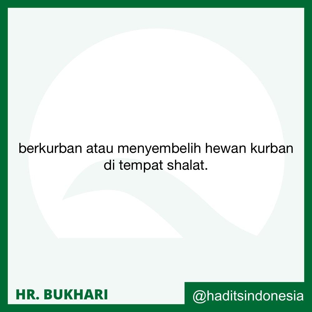 Qurban dan Penyembelihan Dilaksanakan Di Tempat Shalat Hari Raya